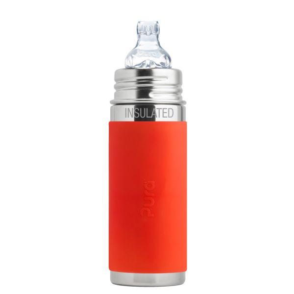 Pura Kiki ISO-Flasche 250ml XL Trinklernaufsatz Orange