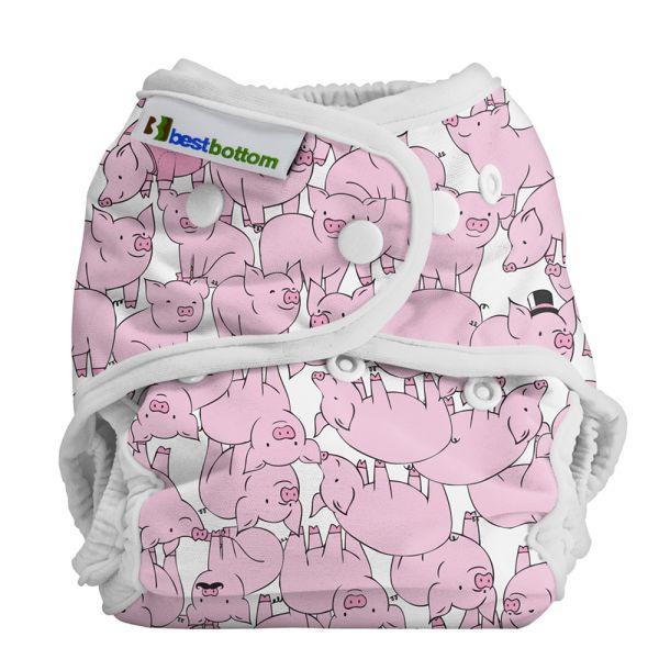 Best Bottom Überhose (SIO) One Size (3-16 kg) PUL Schweinchen