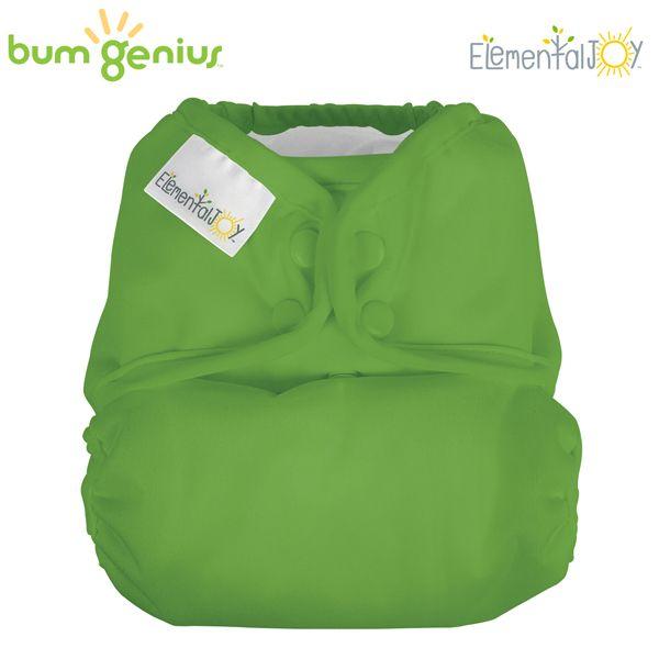 BumGenius Elemental JOY - Ribitt (Grün) - Pocketwindel (ohne Einlagen)