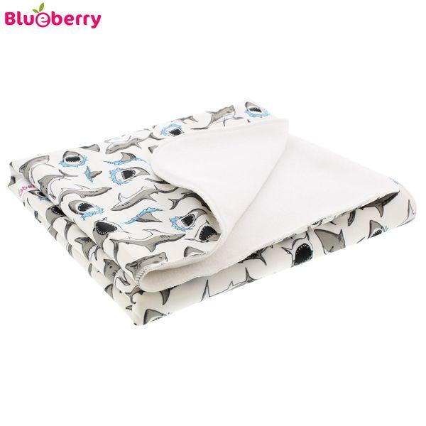 Blueberry - große Wickelunterlage & Betteinlage - (90x67cm)