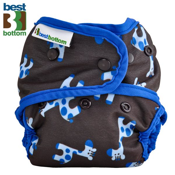 Best Bottom Diapers (PUL) Überhosen - One Size - Blaue Giraffen