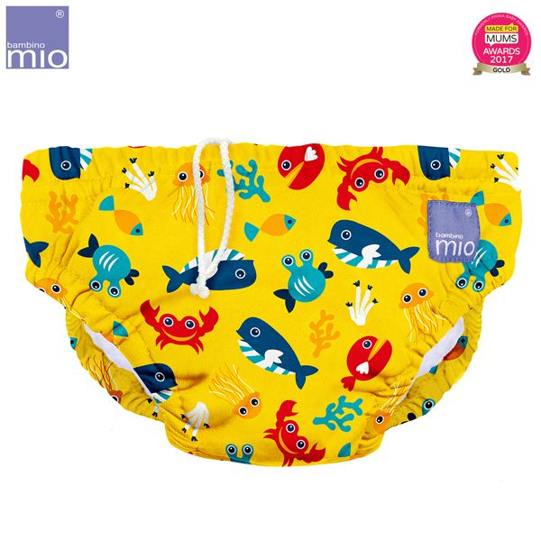 Bambino Mio - waschbare Schwimmwindel - Deep Sea Yellow (S-XL)