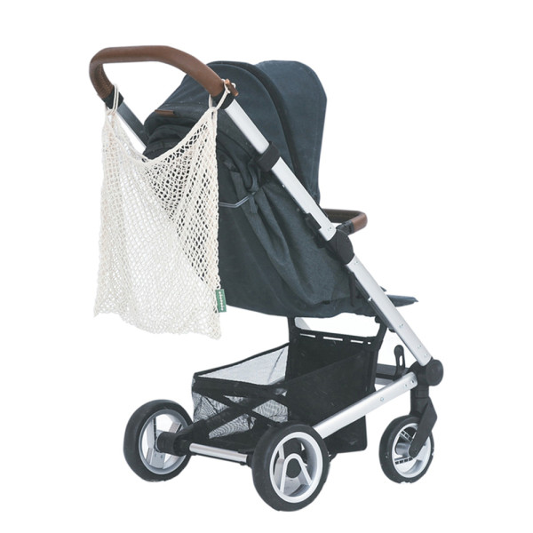 KeepJar - Netztasche für Kinderwagen aus Bio-Baumwolle (55x45 cm)