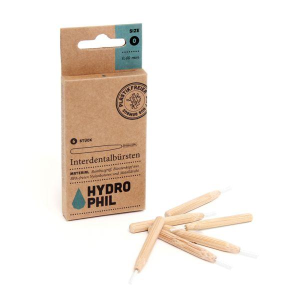 Hydrophil - nachhaltige Bambus Interdental Bürste (Zahnseidenersatz) - 6 Stück
