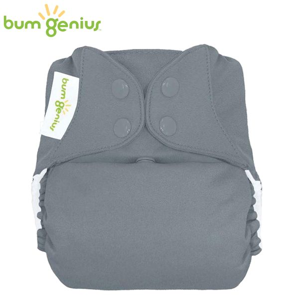 BumGenius Freetime One Size (AIO) - Armadillo (Grau)