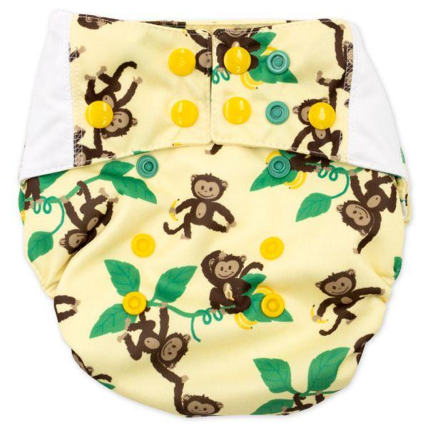 Mommy Mouse - Pocketwindel (One Size) - Affen (ohne Einlagen)