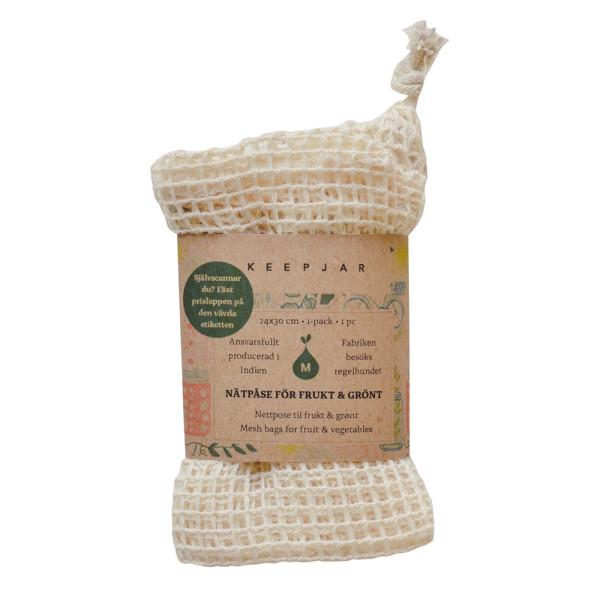 KeepJar - Bio-Stoff-Obstbeutel (100% GOTS-Bio-Baumwolle) - Ohne Plastik einkaufen