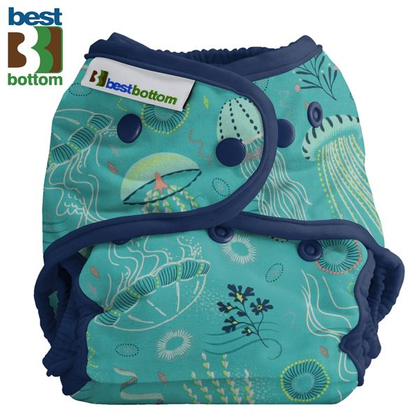 Best Bottom Diapers (Baumwolle) Überhosen - BIGGER/XL (Druckies) - Jelly Jubilee