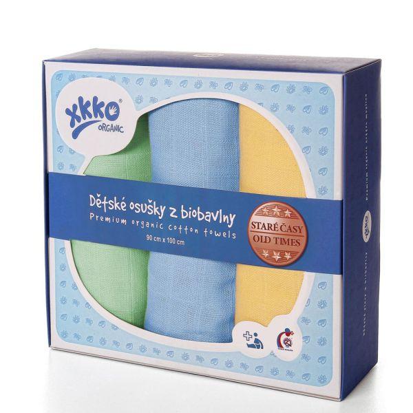 XKKO Mullwindeln - 100% Bio-Baumwolle - (3 Stück) - 90x100cm