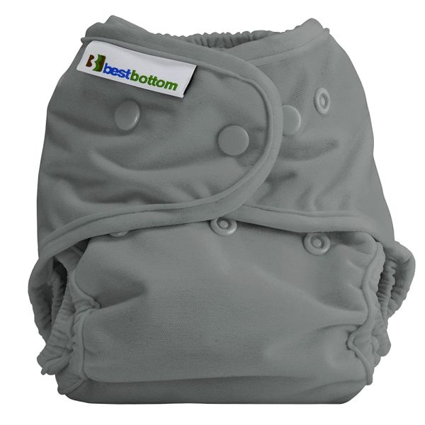 Best Bottom - Überhose (SIO) One Size (3-16 kg) - PUL - Grau