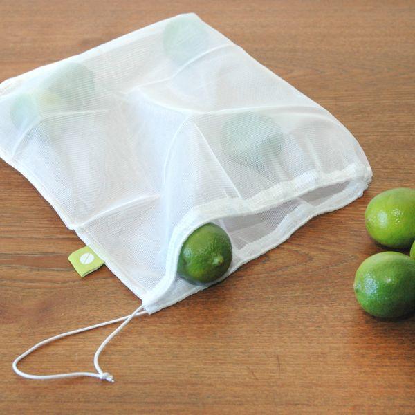 Flip & Tumble - wiederverwendbare Obst- und Gemüsebeutel mit Kordelzug - (5 Stück)