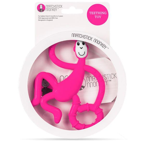 Matchstick Monkey - Beißring (Trainingszahnbürste) - 100% Silikon (14cm)