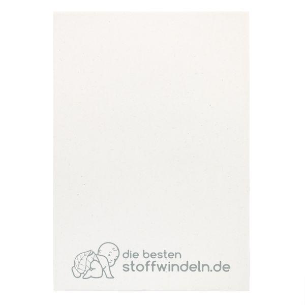 """Schreibblock - """"die-besten-stoffwindeln"""" mit Logo - DINA5 - (je 3 Stück)"""