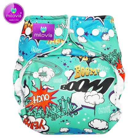 Milovia - Coolmax Pocketwindel (One Size) - Bam Boom (Unique)