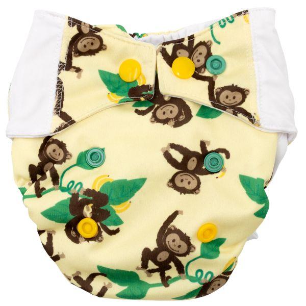 Mommy Mouse - Komplettwindel (AIO) - Newborn (2,5-7 kg) - Affen