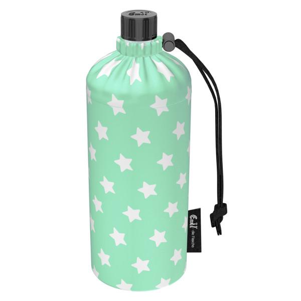 Emil die Flasche (600ml) - Komplettset (Bio-Baumwolle-Überzug) - Sterne Mint
