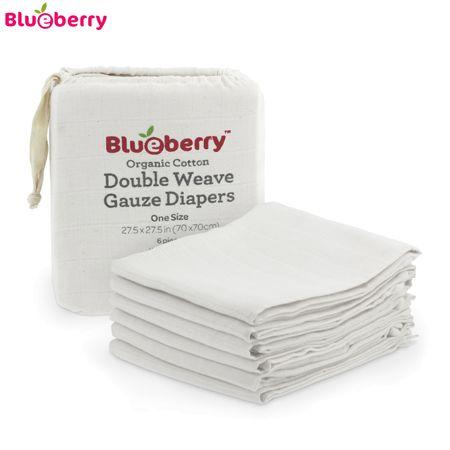 Blueberry Mullwindeln - 100% Bio-Baumwolle (6 Stück) - 70x70 cm
