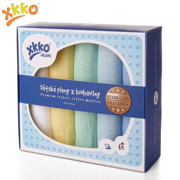 XKKO - Organic Mullwindeln - 100% Bio-Baumwolle - (Alte Zeiten) - 70x70cm