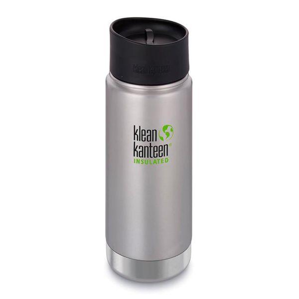 Klean Kanteen - Wide (ISO-Trinkflasche) - Café Cap 2.0 - Vakuumisoliert (473 ml)
