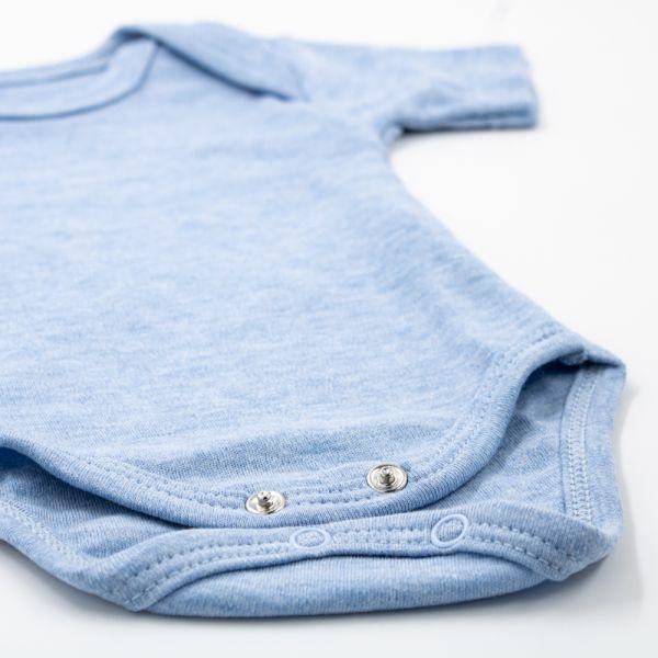 Bebelinna - 10-tlg. Baby-Erstausstattung (50-56) - Unifarben - einfarbig blau - Body