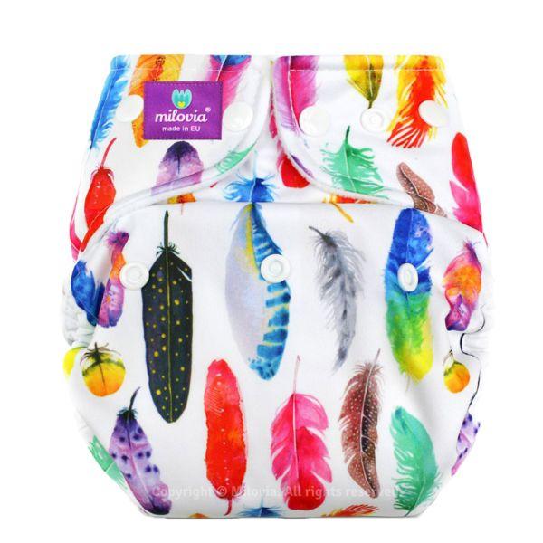 Milovia Überhose (Prefold) Gorgeous Feathers