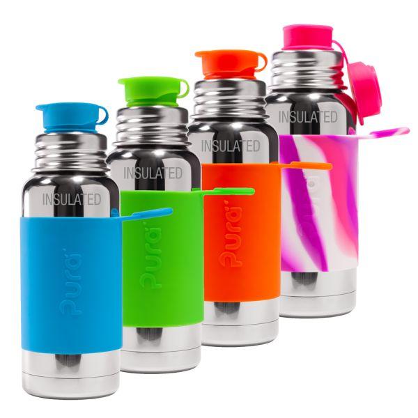 PuraSport™ ISO-Flasche 475ml - BigMouth™ Aufsatz (inkl. Silikonüberzug)