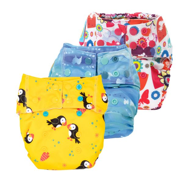Mommy Mouse - Komplettwindel (AIO) - One Size (6-16 kg) - Spar Paket
