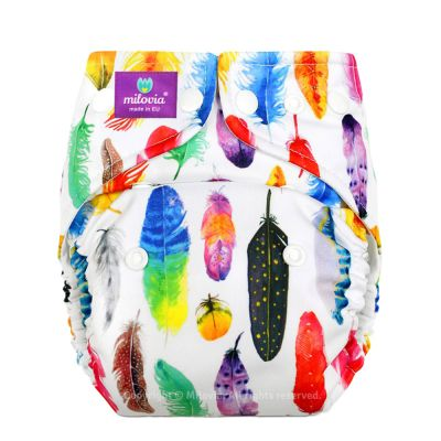 Milovia - Microfleece Pocketwindel (One Size) Gorgeous Feathers