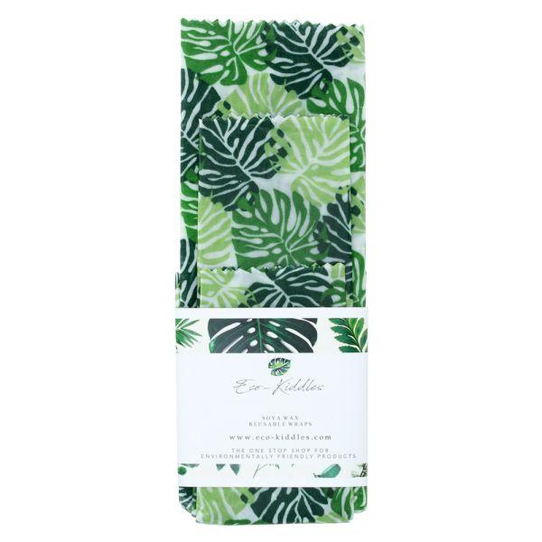 Eco-Kiddles - wiederverwendbare Soja-Wachstücher (100% natürlich & vegan) - 3 Stück
