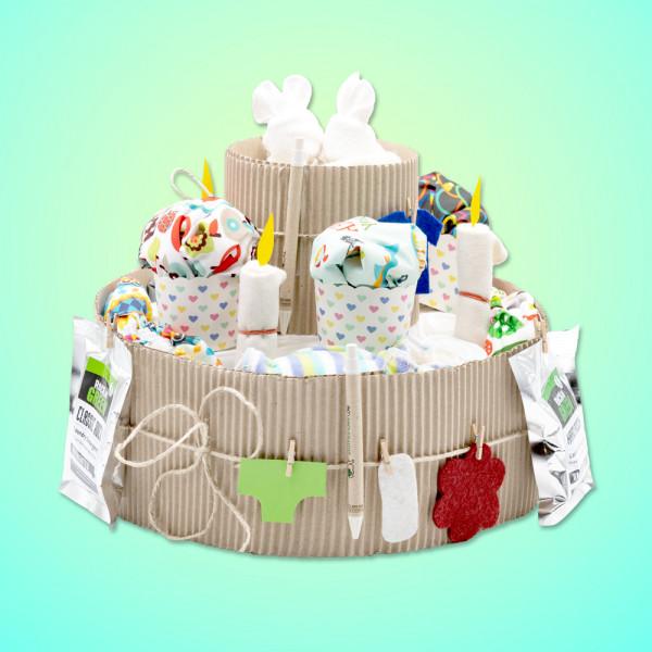 """Die """"Baby-Torte"""" für umweltbewusste Eltern - das perfekte Geschenk zur Geburt."""