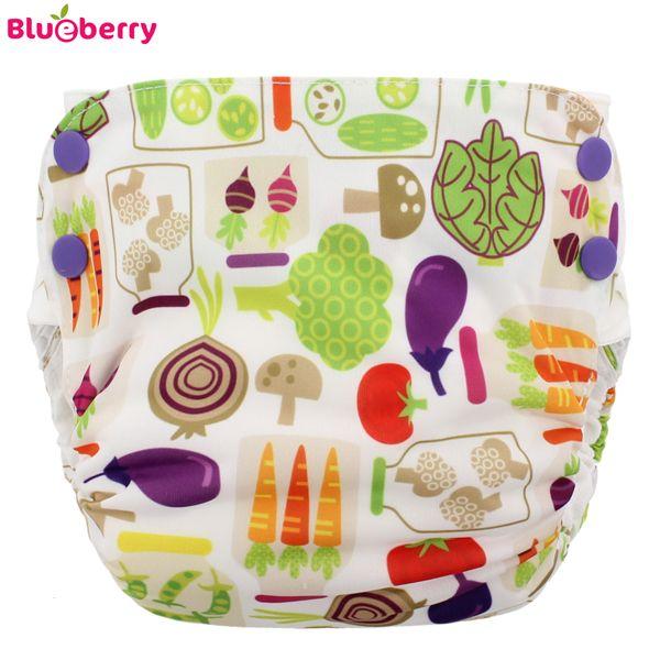 Blueberry Simplex 2.0 Side Snap (AIO) - Veggies (Bio-Baumwolle)