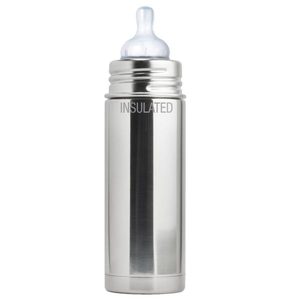 Pura Kiki ISO-Flasche 250ml Weithalssauger Blank