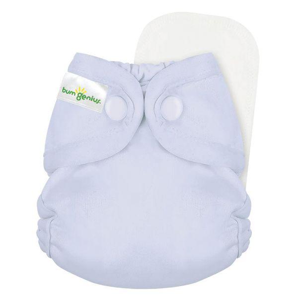 BumGenius - Littles 2.0 Newborn (2-6 kg) - Bubble (Pastel Lavendelrosa)