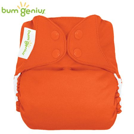 BumGenius Freetime One Size (AIO) - Sassy (Orange)