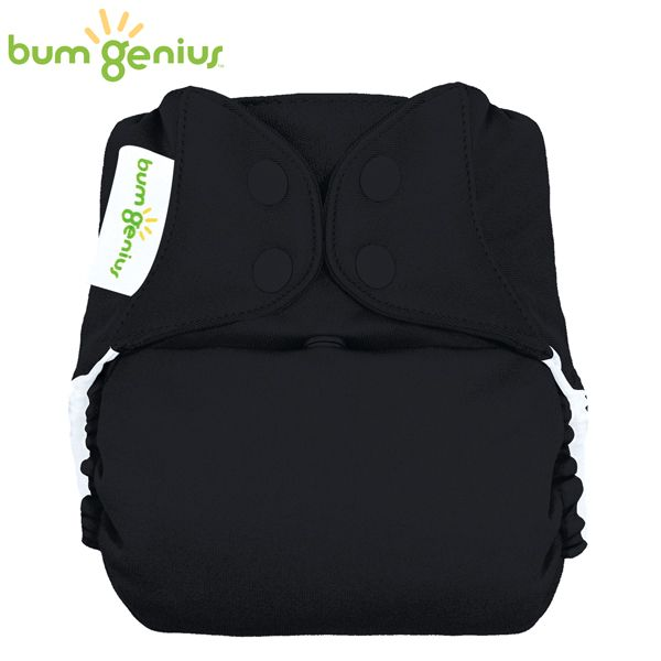 BumGenius Freetime One Size (AIO) - Fearless (Schwarz)