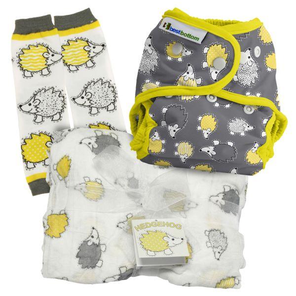 Best Bottom - Geschenk SET (Überhose, Baby Legs & Pucktuch)