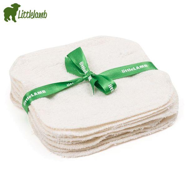 Little Lamb - Bambus Reinigungstücher (14x9 cm) - 10 Stück