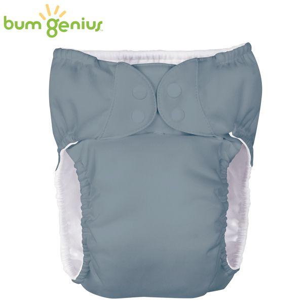 BumGenius XXXL-Pocketwindel - BIGGER (32-55 kg) - Armadillo (Grau)