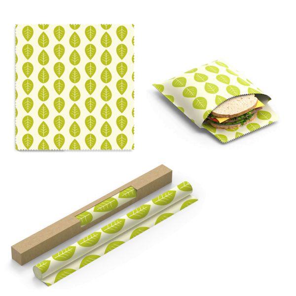 Nuts - wiederverwendbare Soja-Wachstücher (Vegan Wraps) - Grüne Blätter