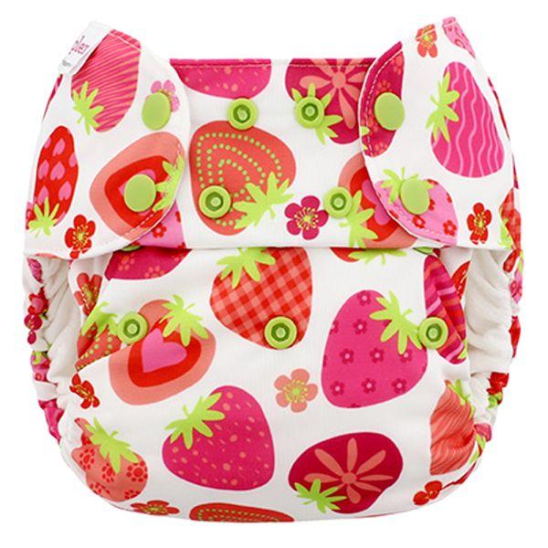 Blueberry - Simplex OneSize (AIO) - Bio-Baumwolle (GOTS) - Strawberries