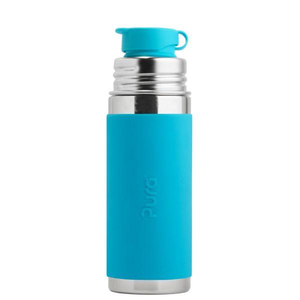 PuraSport™ Flasche 325 ml BigMouth™ Aufsatz (inkl. Silikonüberzug) blau