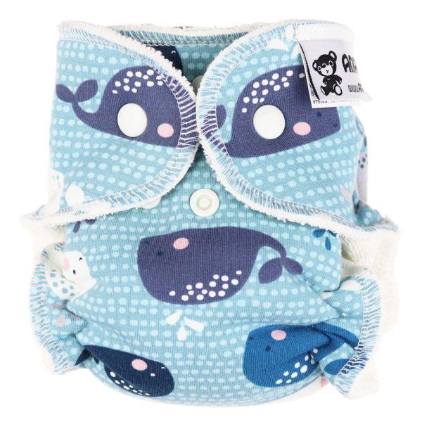 Anavy - Höschenwindeln - Baby Whales - Newborn (2-6 kg)