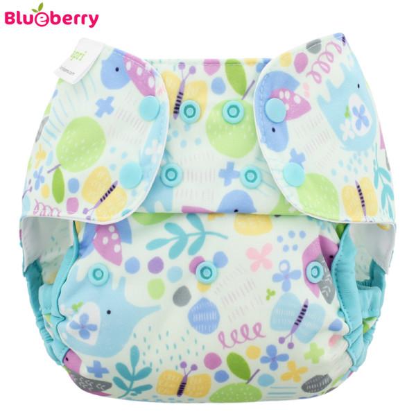 Blueberry - Capri 2.0 Überhose (Prefold) - Baby Birds