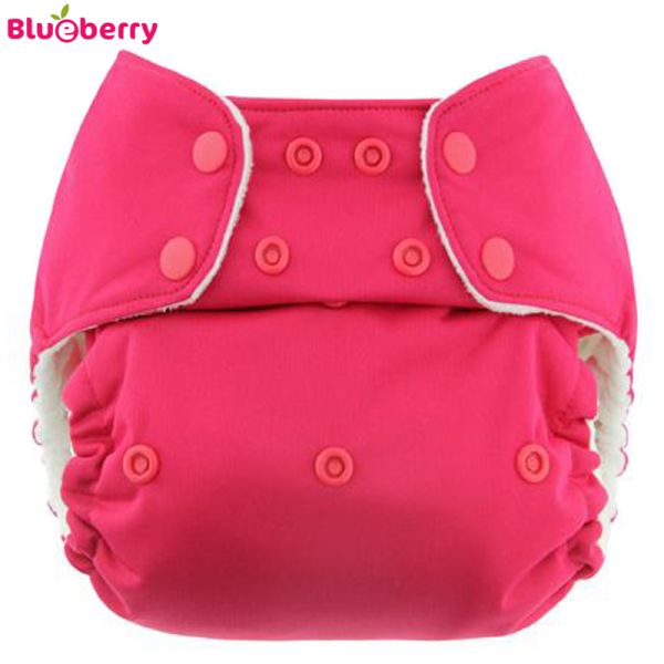 Blueberry - Simplex OneSize (AIO) - Bio-Baumwolle (GOTS) - Pink (Raspberry)