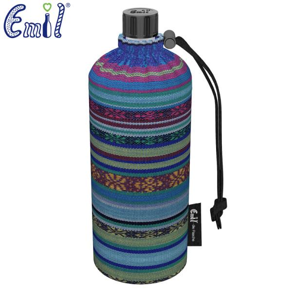 Emil die Flasche (400ml) - Komplettset (Bio-Baumwolle-Überzug) - Aztek