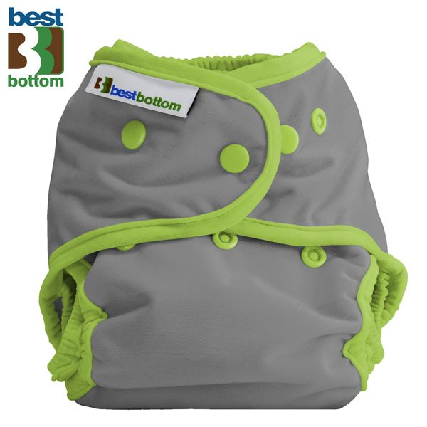 "Best Bottom Diapers (PUL) Überhosen - One Size - Einfarbig - ""Grau"""