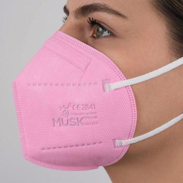 Musk - FFP2 Meltdown Atemschutz Maske CE 2163 (5 lagig) - Pink