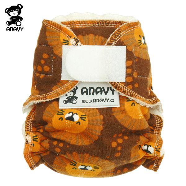 Anavy Höschenwindeln - Löwen (Orange) - Newborn (2-6 kg)