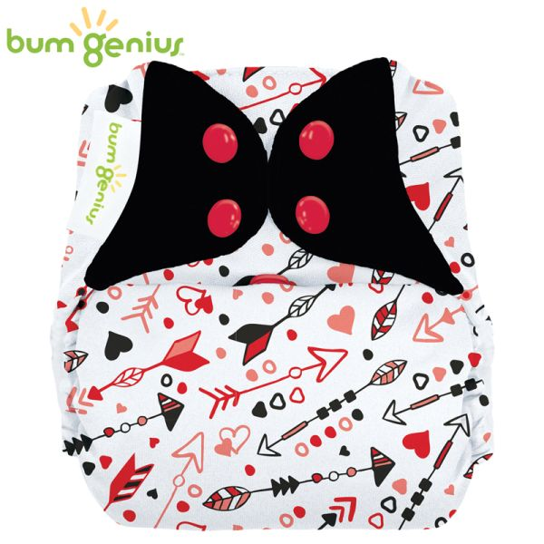 BumGenius V5.0 Pocketwindel One Size - Be Mine (Muster)