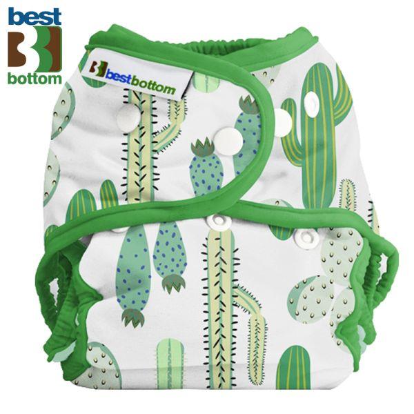 Best Bottom - Überhose (SIO) One Size (3-16 kg) - PUL - Prickly Cactus